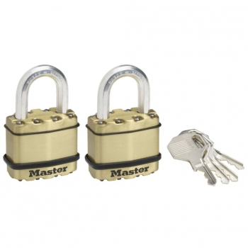 Master Lock Candado Excell 2 Unidades Acero 45 Mm M1beurt