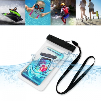 "Donkeyphone - Bolsa Universal Acuática Transparente Impermeable Sumergible Para Smartphone Hasta 6"" Para Piscina, Surf, Playa..."