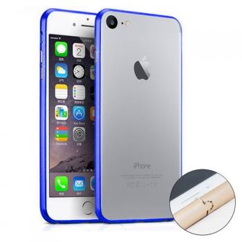 964c539f093 Donkeyphone - Bumper De Aluminio Azul Metálico Para Iphone 7 - Carcasa Funda  Protectora Con Botones