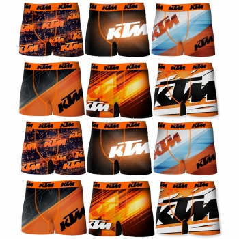 Pack 12 Calzoncillos Ktm Motorbike Para Hombre