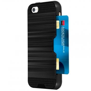 f1ccfa731e6 Carcas Iphone 5 / 5s / Se Protección Rígida Antigolpes Billetera Negra