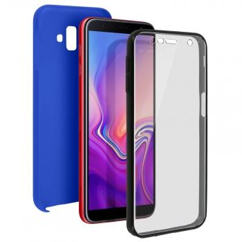 5d94f6a6de7 Carcasa Samsung Galaxy J6 Plus 360ª Silicona + Trasera Policarbonato - Azul
