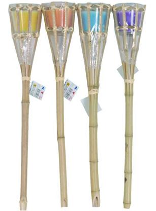 Antorcha Bambú Con Vela Anti Mosquitos 52 Cm