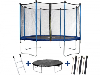 "Trampolin / Cama Elástica  "" Happy "" -  Ø 3.65 M - Con Malla + Escalera + Covertura+ Kit De Anclaje"