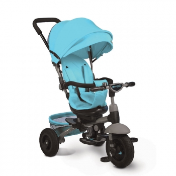Triciclo Evolutivo,bidireccional Y Reclinable Con Mp3 King Blue