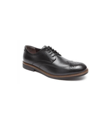 Rockport Cb Wing Tip Black Lea