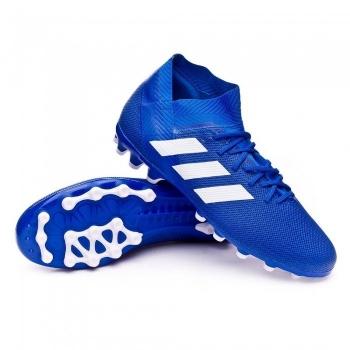 70b6c53f Botas De Fútbol Adidas Nemeziz 18.3 Team Mode Suela Ag Azul Niño