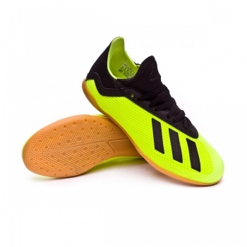 Botas De Fútbol Adidas X 18.3 Team Mode Suela Sala Amarillo Niño b39d6e86ec391