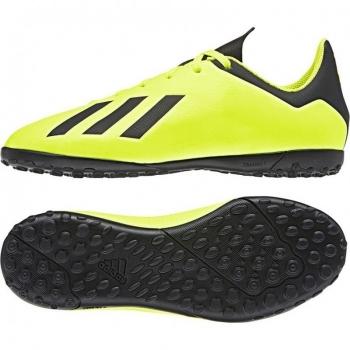best sneakers d3c5b 8b0f1 Botas De Fútbol Adidas X 18.4 Team Mode Suela Turf Amarillo Niño