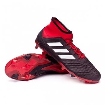detailed look ead14 4ca8c Botas De Fútbol Adidas Predator 18.2 Fg Team Mode Negro rojo Adulto