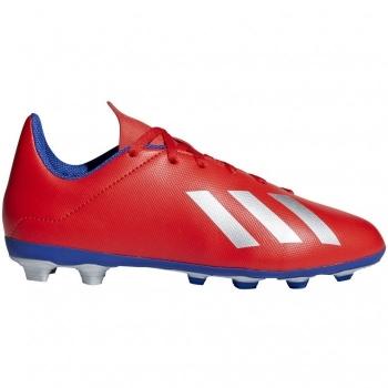84d5e0f0 Botas De Fútbol Adidas X18.4 Exhibit Mode Suela Fxg Rojo/plata Niño