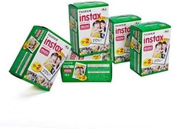 10 Paquetes De Fujifilm Instax Mini Film Película Papel Fotográfico (100 Fotografías)