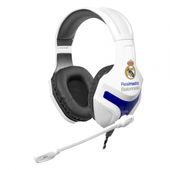 Auriculares Mars Gaming Mhrm, Licencia Oficial Real Madrid Y Euroliga, Micrófono Plegable, Pc/mac/ps4/xbox One