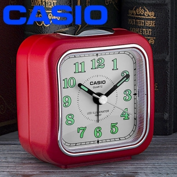 Reloj Casio Tq-157-4df Alarma-luz Led