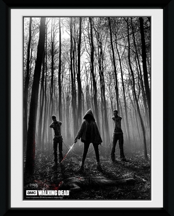 Fotografia Enmarcada The Walking Dead Woods