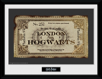 Fotografia Enmarcada Harry Potter Ticket