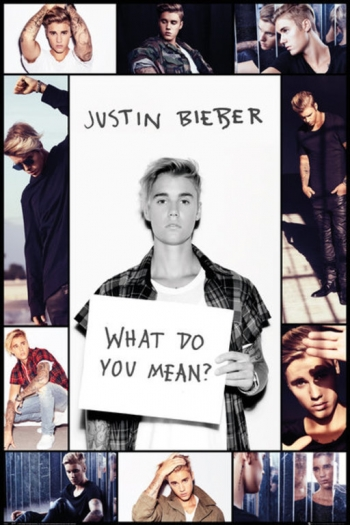 Maxi Poster Justin Bieber What Do You Mean