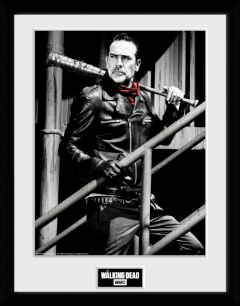 Fotografia Enmarcada The Walking Dead Negan Stairs