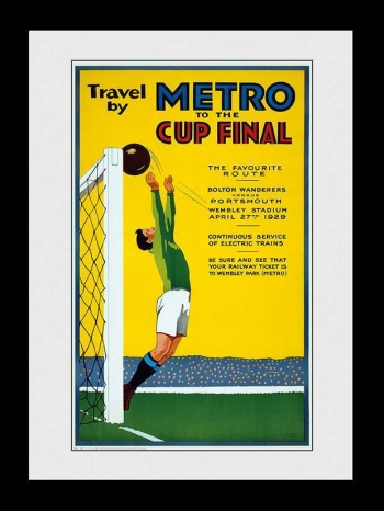 Fotografia Enmarcada Transport For London Metro To The Cup Final 60x80cm
