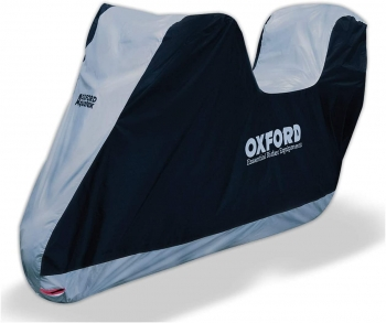 Oxford Funda Moto Impermeable Aquatex Top Box Para Moto Con Baul Talla L (246 X 104 X 127 Cms)