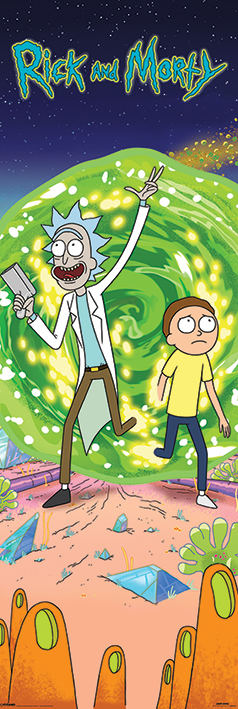 Poster Puerta Rick And Morty Frases