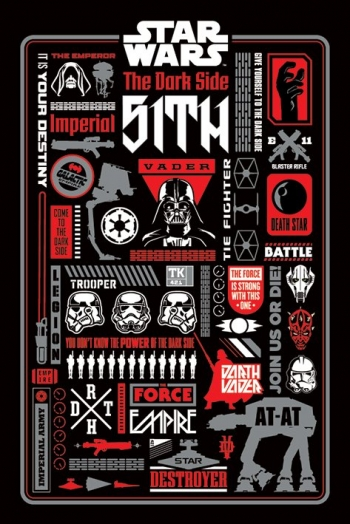 Maxi Poster Star Wars (dark Side Icongraphic)