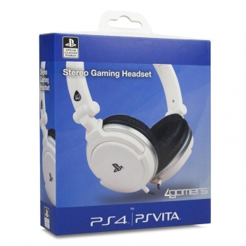 Stereo Gaming Headset White Ps4/ps Vita