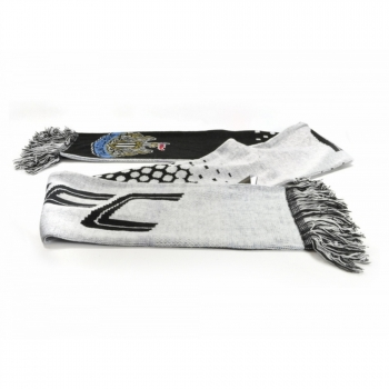 Newcastle United Fc Official - Bufanda Jacquard Efecto Degradado (talla Única) (blanco/negro)