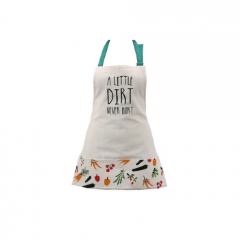 Cgb Giftware - Delantal Con Bolsa Y Mensaje Little Dirt Never Hurt (modelo Único) (blanco)