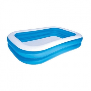 Bestway - Piscina Hinchable Tamaño Familiar 2 Ring (269 X 175 X 51cm) (azul)