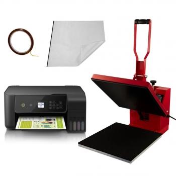 Prensa De Calor Térmica Para Sublimación De Camisetas 38x38cm Pixmax    Impresora bf9a2a29b8d