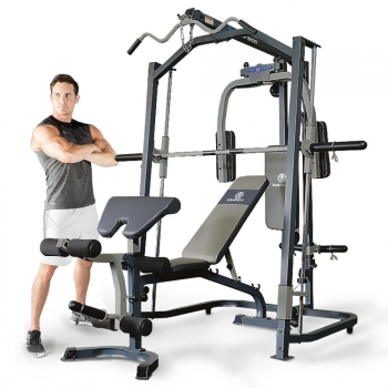 Marcy Mp3100 Smith Multigym. Incluye Banco De Pesas. Tabla De Ejercicios. Musculación Completa
