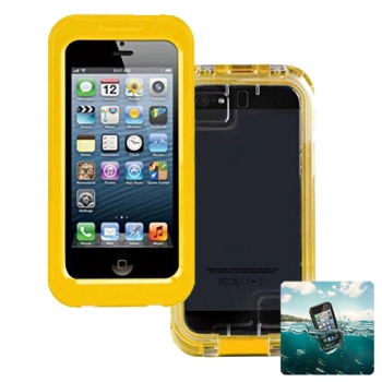 Carcasa Acuatica Amarilla Para Iphone 4 / 4s / 5 / 5s Funda Sumergible Waterproof