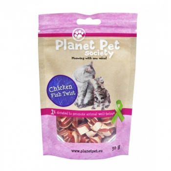 Planet Pet Gato Snack Pollo Y Pescado Twist Para Gatos - 30gr
