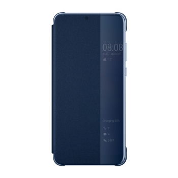 Funda Original Para Huawei P20 Pro Smart View Flip Cover Deep Blue