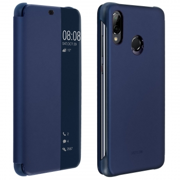 Funda Original Para Huawei P20 Lite Smart View Flip Cover Blue