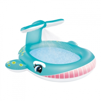 Piscina Hinchable Ballena Intex Con Aspersor