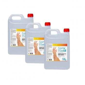 Pack X3 Gel Higienizante De Manos Anti-bacteriano Sany Hand 5l