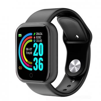Lkstech Reloj Inteligente Bluetooth Unisex Multi-función Anti Salpicaduras De Agua Con Presión Arterial Con Seguimiento Deportivo Notificaciones Redes Sociales Whatsapp Para Android/ios Negro