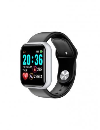 Lkstech® Smartwatch-reloj Deportivo Inteligente Bluetooth Unisex Multi-función Anti Salpicaduras De Agua Con Presión Arterial Con Seguimiento Deportivo Notificaciones Redes Sociales Whatsapp Para Android/ios Silver