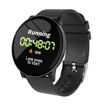 Lkstech Reloj Inteligente Fitness Monitor De Ritmo Cardíaco Ip67 Resistente Al Agua,temperatura,calendario, Reloj Deportivo Para Teléfonos Android/ Iphone Negro