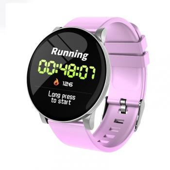 Lkstech Reloj Inteligente Fitness Monitor De Ritmo Cardíaco Ip67 Resistente Al Agua,temperatura,calendario, Reloj Deportivo Para Teléfonos Android/ Iphone Rosa
