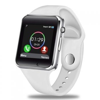 Smartwatch Lkstech®   Bt Multi-función Cámara Integrada, Altavoz,micrófono Y Slot Para Tarjeta Sim Blanco