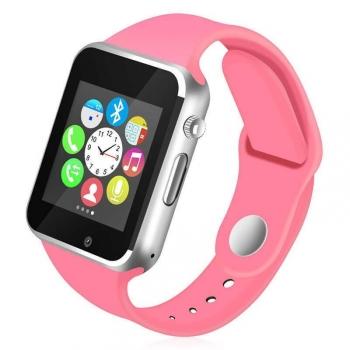 Smartwatch Lkstech®   Bt Multi-función Cámara Integrada, Altavoz,micrófono Y Slot Para Tarjeta Sim Rosa