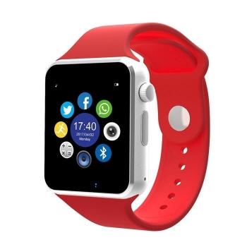 Smartwatch Lkstech®   Bt Multi-función Cámara Integrada, Altavoz,micrófono Y Slot Para Tarjeta Sim Rojo