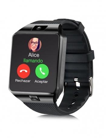 Smartwatch Lkstech®   Multi-función Bt,cámara Frontal,slot Para Tarjeta Sim Y Microsd Negro V1