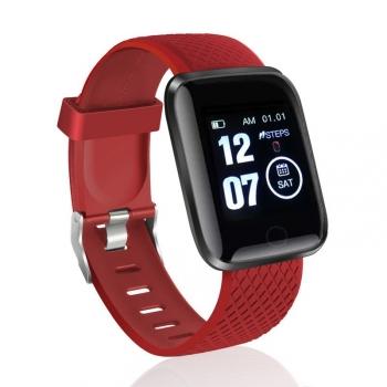 Smartwatch Lkstech® Reloj Inteligente, Pantalla Táctil Oled  Ip67 Para Android Y Ios, Rojo