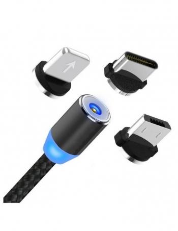 Lkstech® Cable Carga Magnético Universal 3 En 1