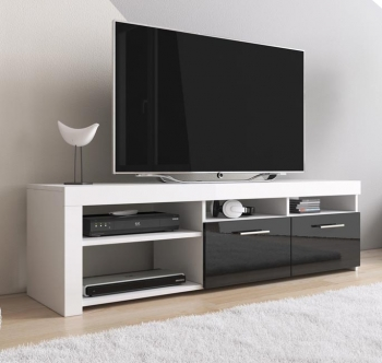 Mueble Tv Modelo Clio (140x40cm) Color Blanco Y Negro