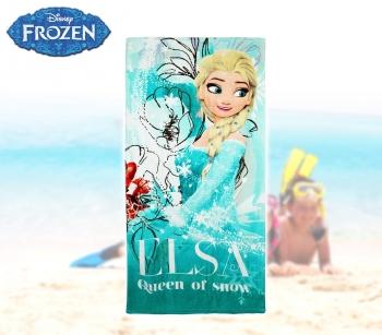 Toalla playa motivo ELSA FROZEN 70 x 140 cm 100/% algod/ón para ni/ña WD15104